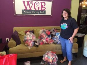 Member Peggy McCarty dropped off our donations at Women Giving Back.